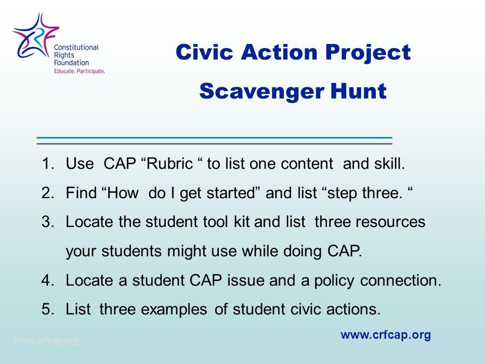 Civic Action Project Scavenger Hunt