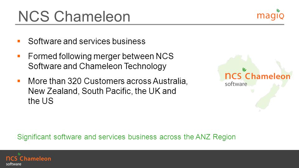 NCS Chameleon Software and services business