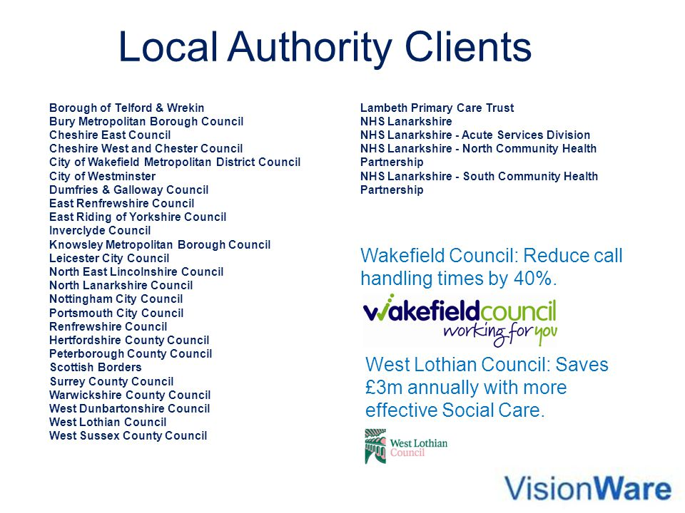 Local Authority Clients
