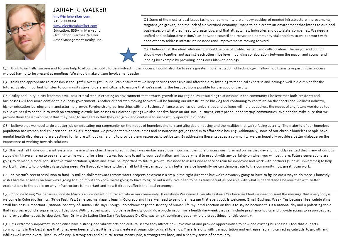 JARIAH R. WALKER info@jariahwalker.com 719-299-0684