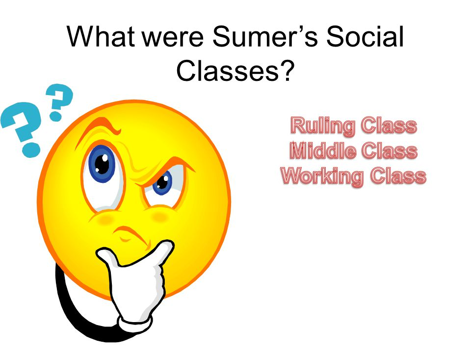 What were Sumer's Social Classes