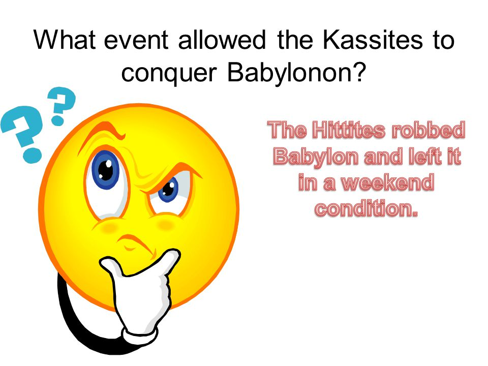 What event allowed the Kassites to conquer Babylonon