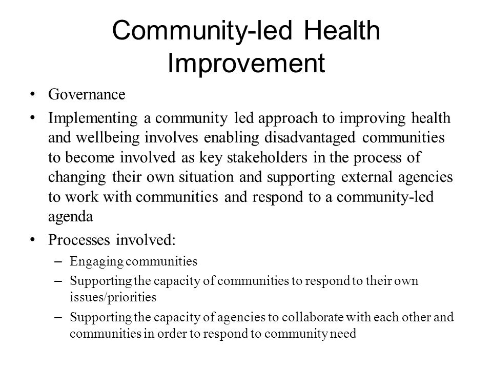 Community-led Health Improvement