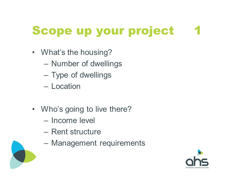 Scope up your project 1 What's the housing Number of dwellings