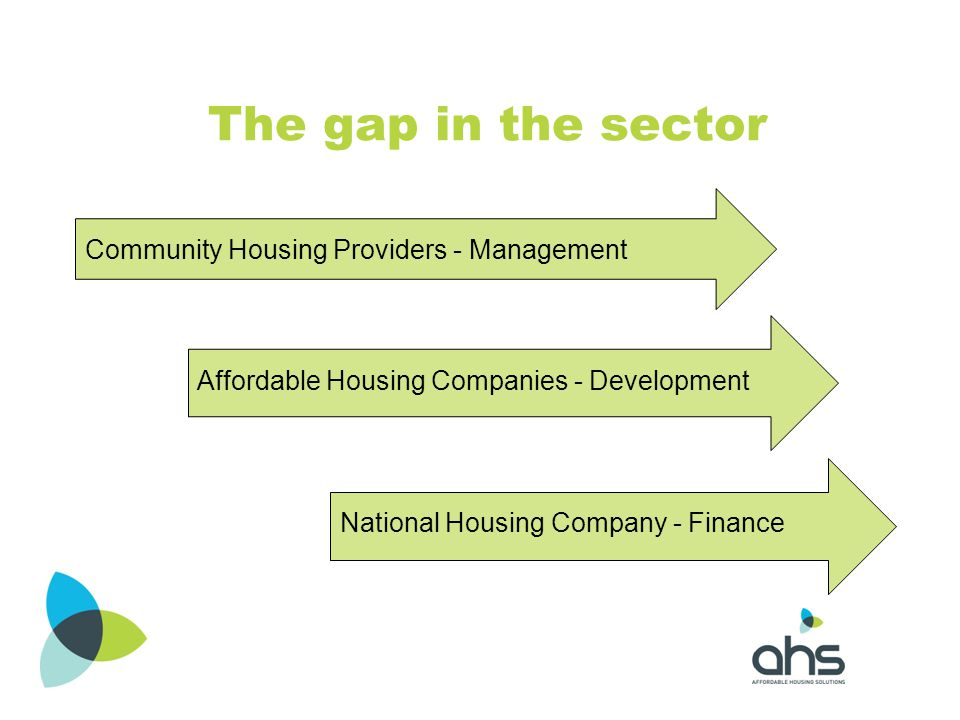The gap in the sector Community Housing Providers - Management
