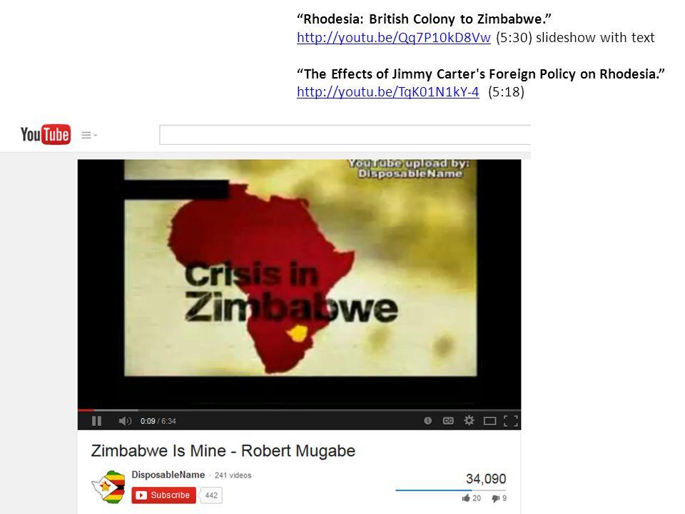 Rhodesia: British Colony to Zimbabwe.