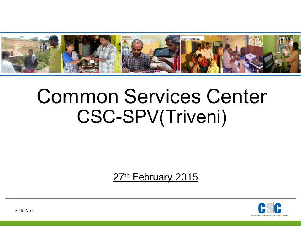 Common Services Center CSC-SPV(Triveni)