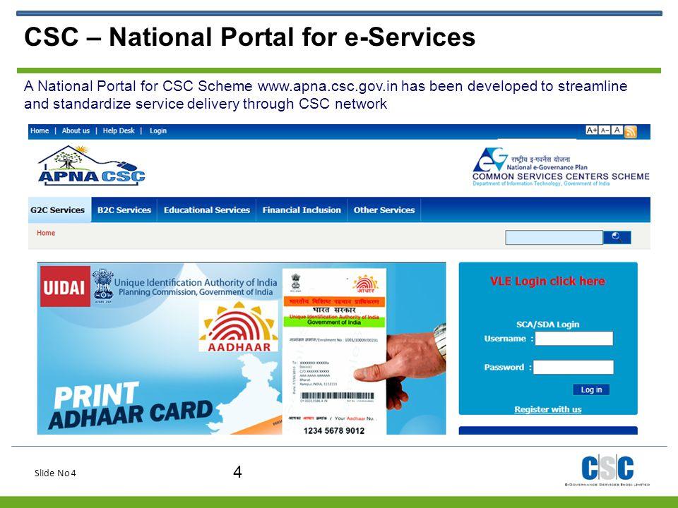 CSC – National Portal for e-Services