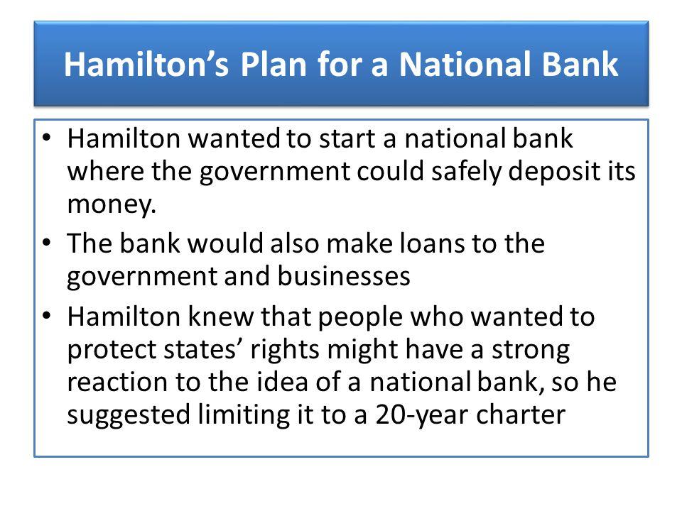 Hamilton's Plan for a National Bank