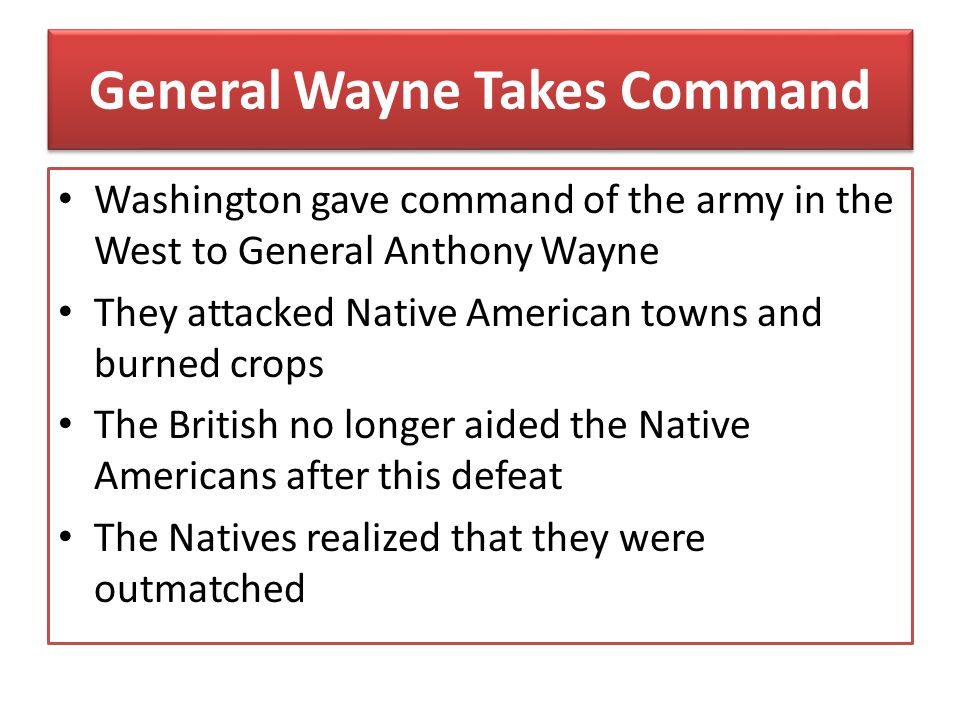 General Wayne Takes Command