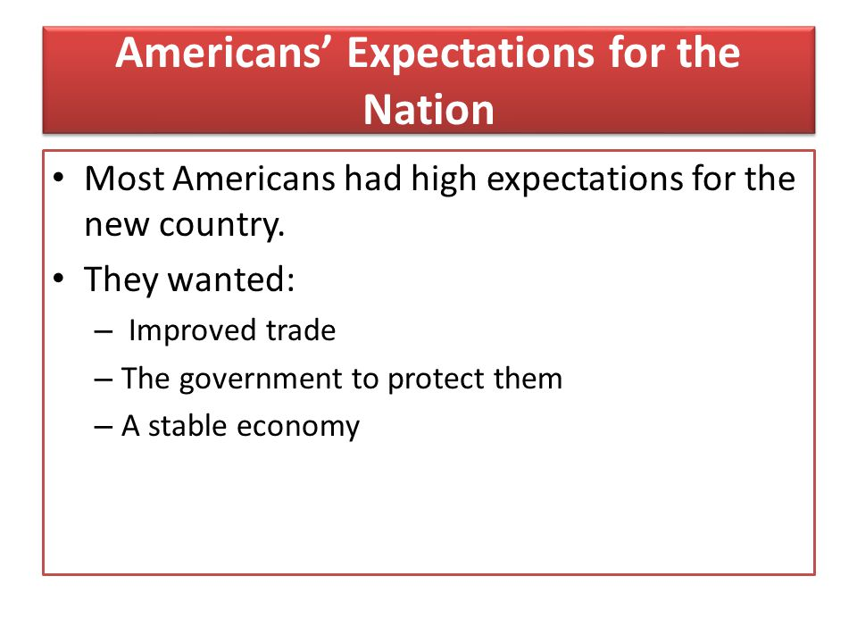 Americans' Expectations for the Nation