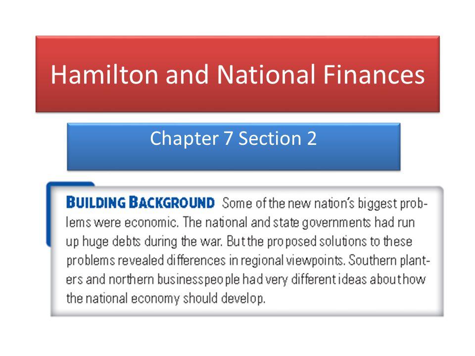 Hamilton and National Finances