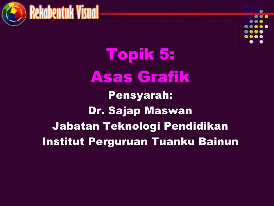 Topik 5: Asas Grafik Pensyarah: Dr. Sajap Maswan