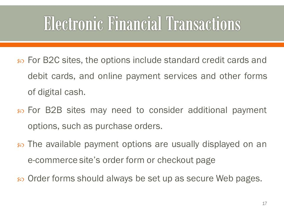 Electronic Financial Transactions