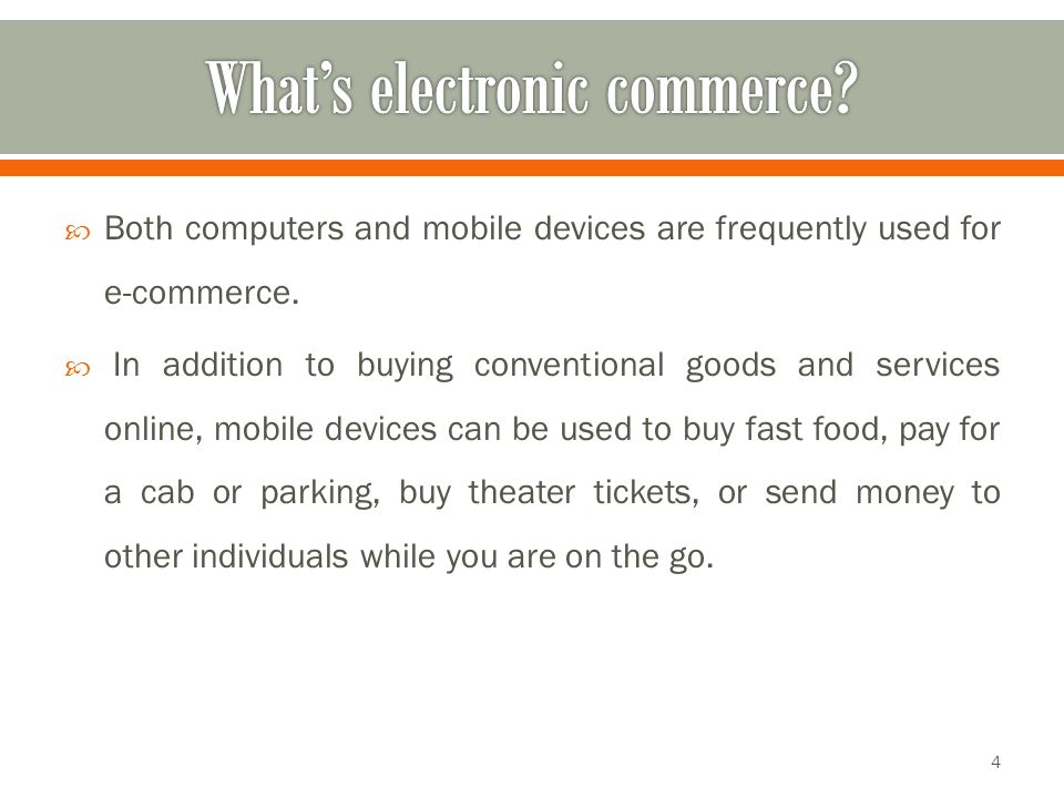 What's electronic commerce