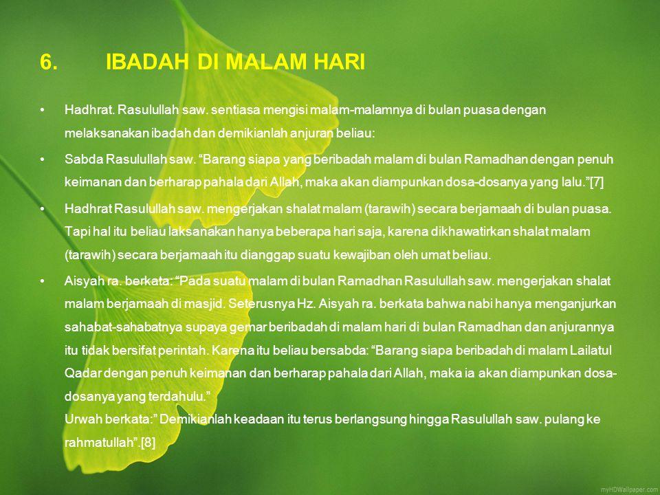 6. IBADAH DI MALAM HARI
