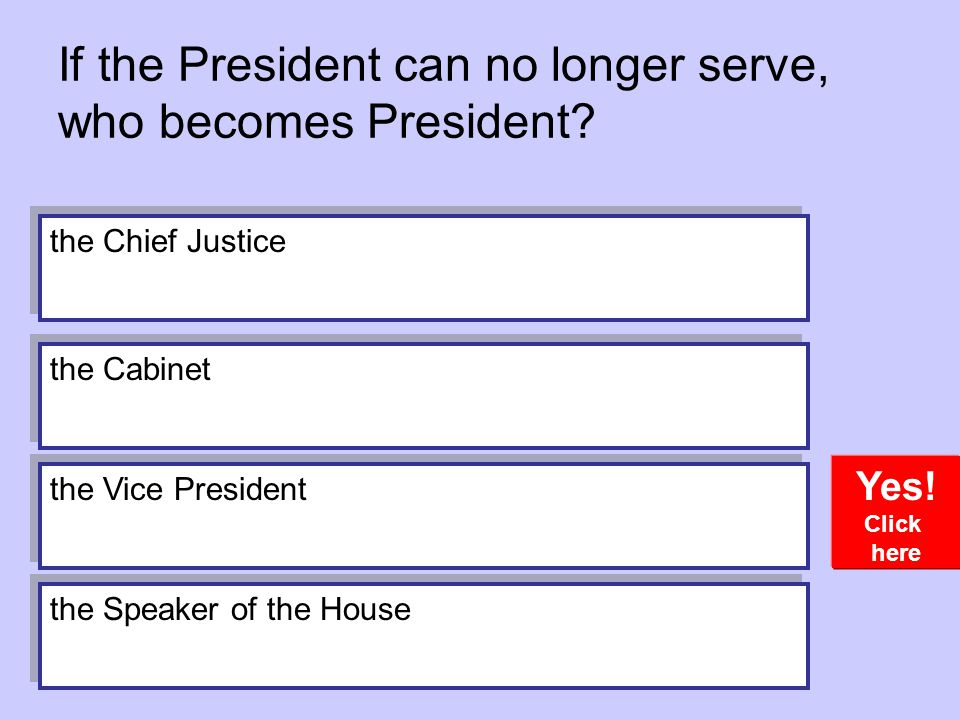 If the President can no longer serve, who becomes President