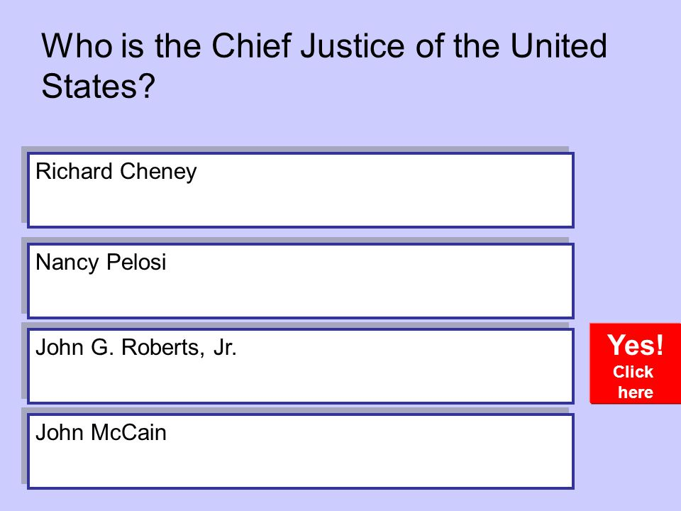 Who is the Chief Justice of the United States