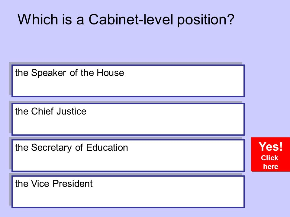 Which is a Cabinet-level position