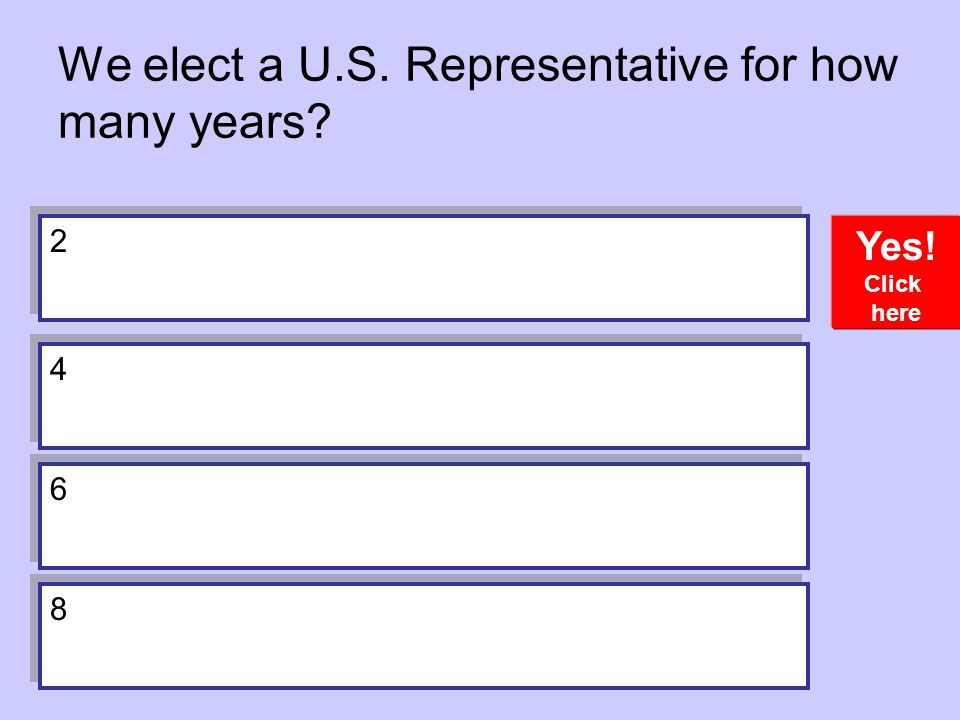 We elect a U.S. Representative for how many years