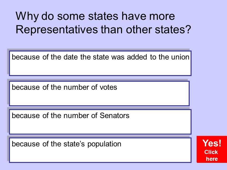 Why do some states have more Representatives than other states