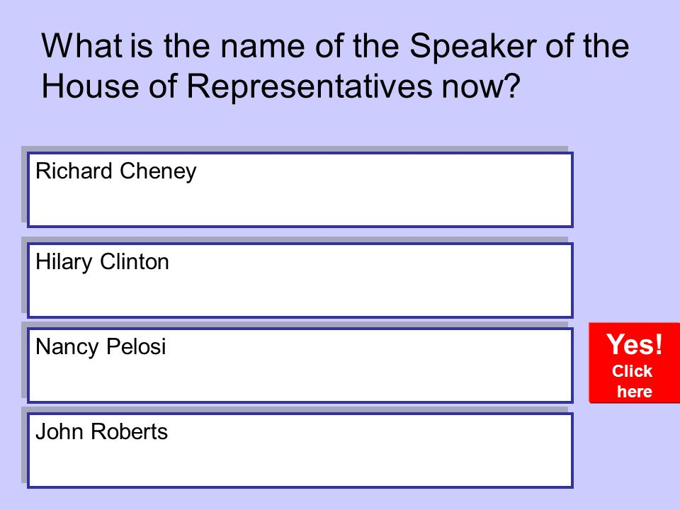 What is the name of the Speaker of the House of Representatives now