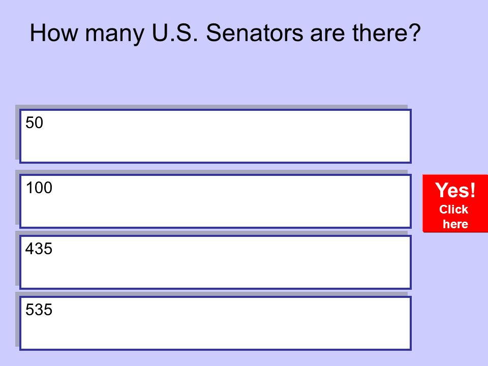 How many U.S. Senators are there