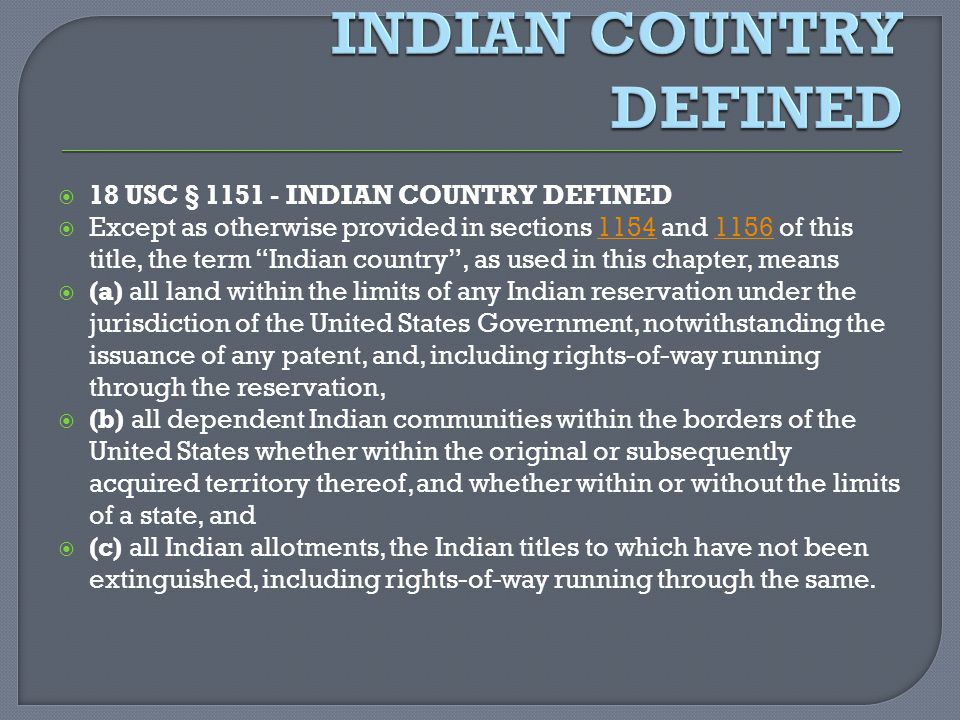 Indian country defined