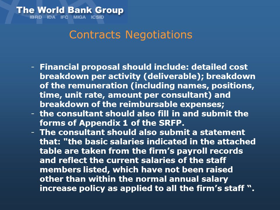 Contracts Negotiations