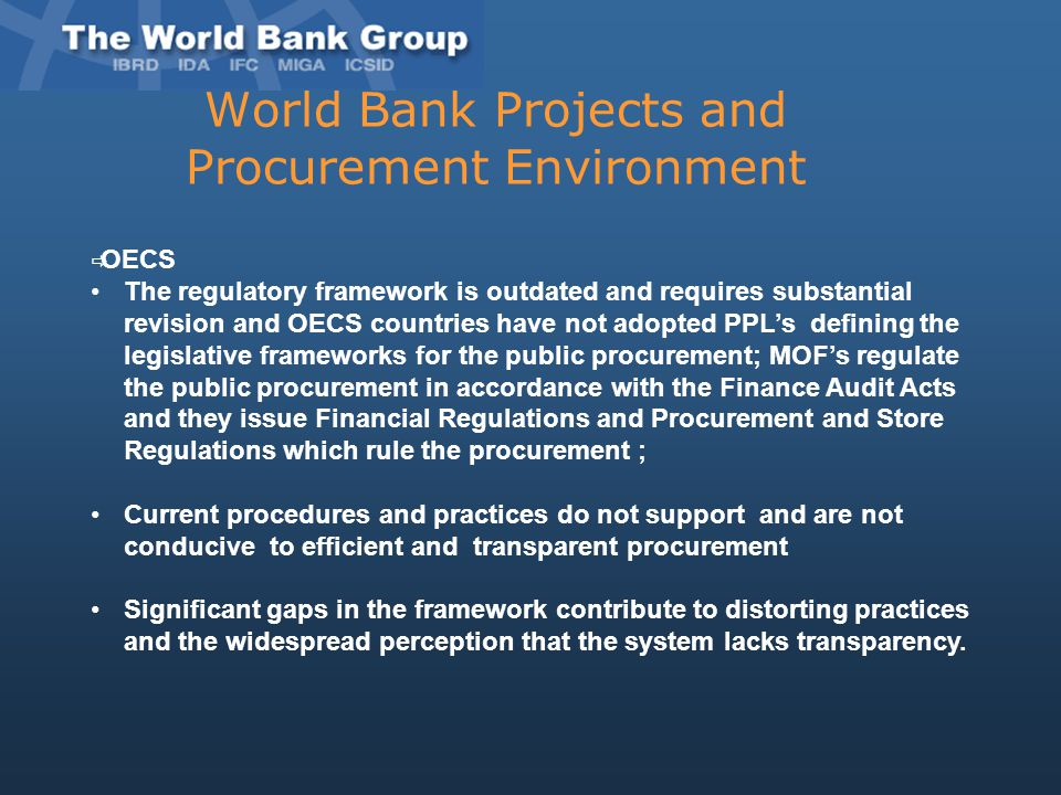 World Bank Projects and Procurement Environment
