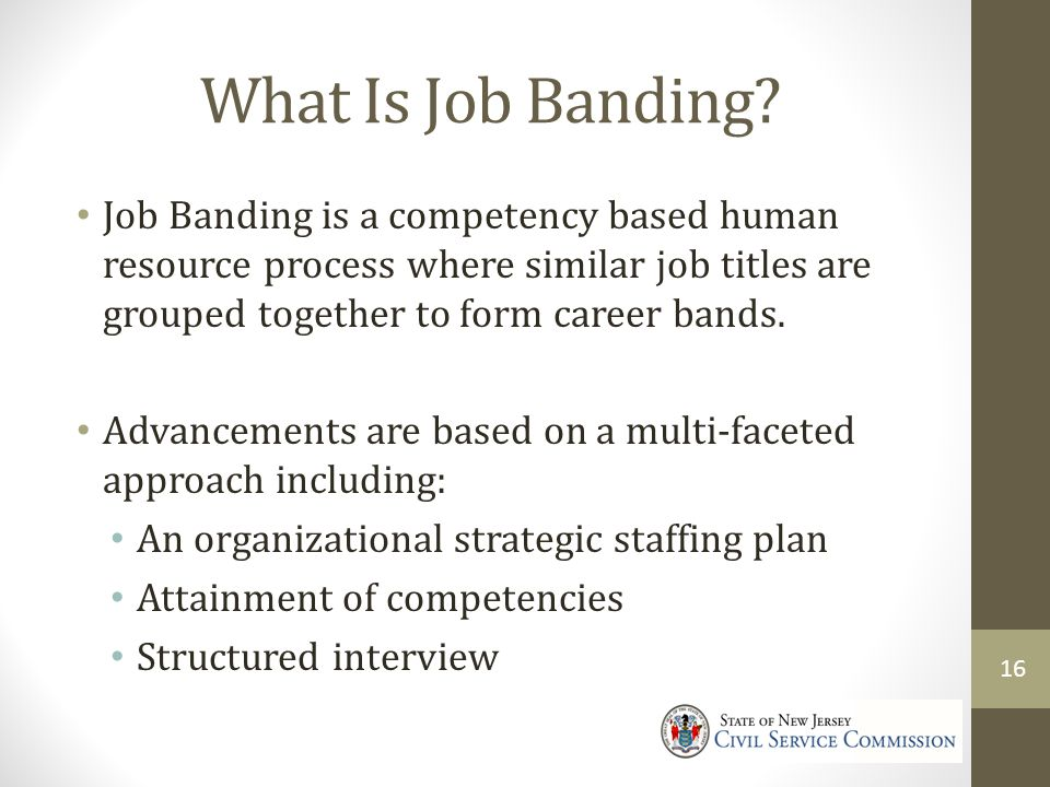 4/9/2017 What Is Job Banding