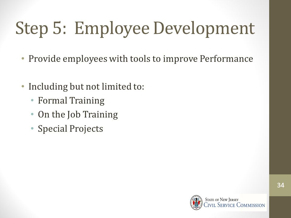 Step 5: Employee Development