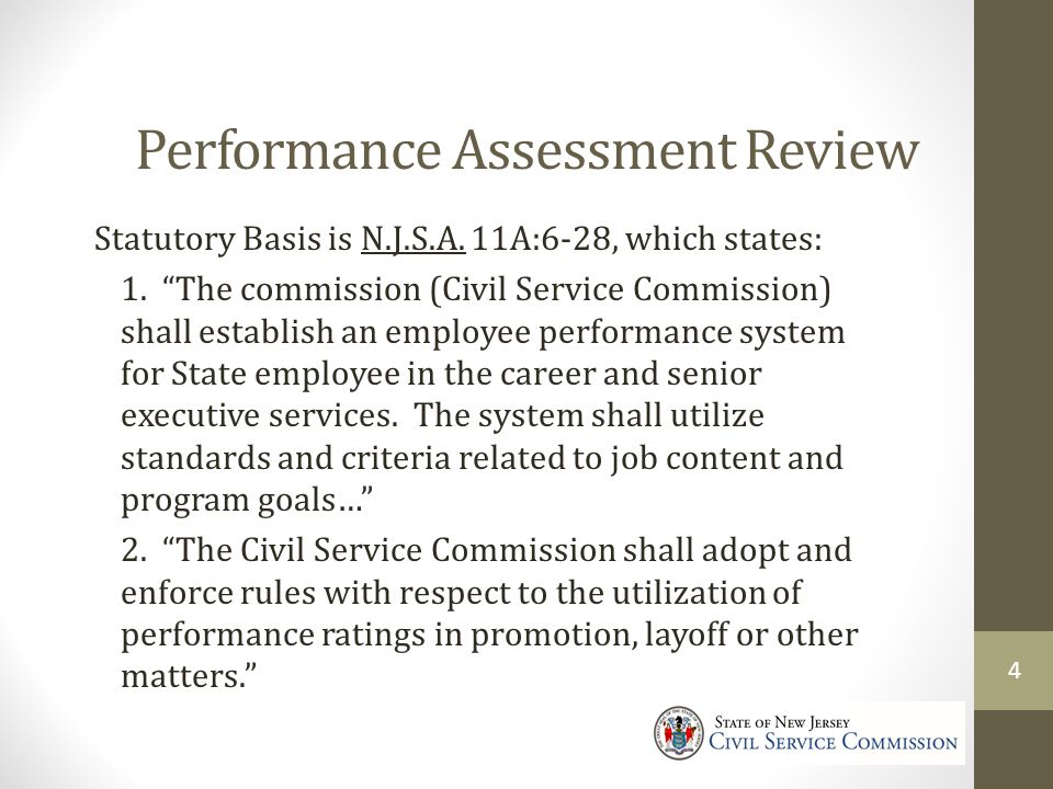 Performance Assessment Review