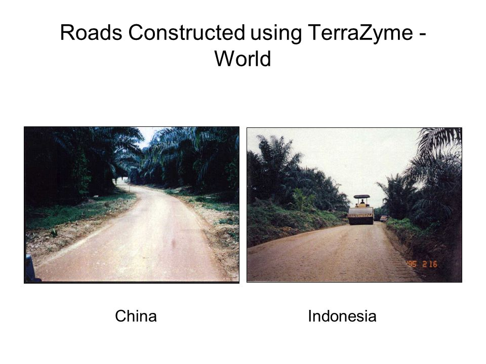 Roads Constructed using TerraZyme - World