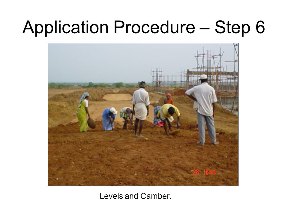Application Procedure – Step 6