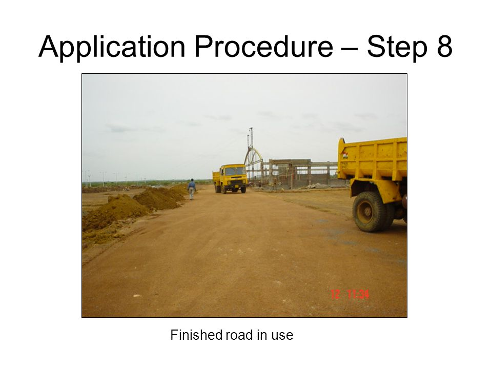 Application Procedure – Step 8