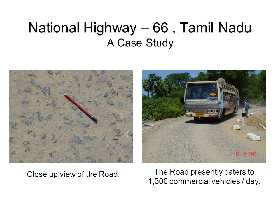 National Highway – 66 , Tamil Nadu A Case Study