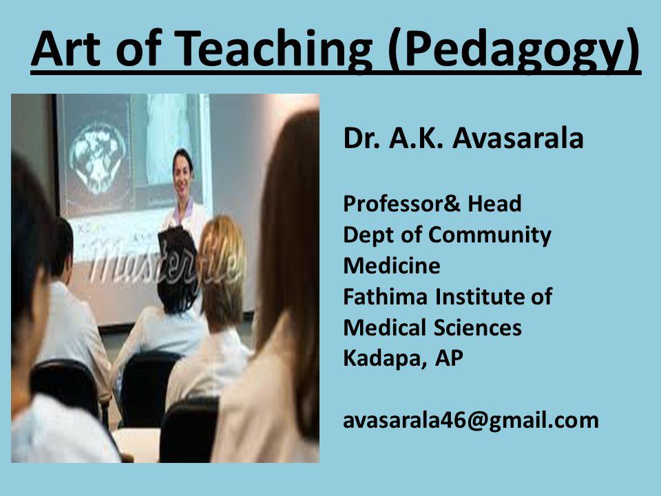 Art of Teaching (Pedagogy)