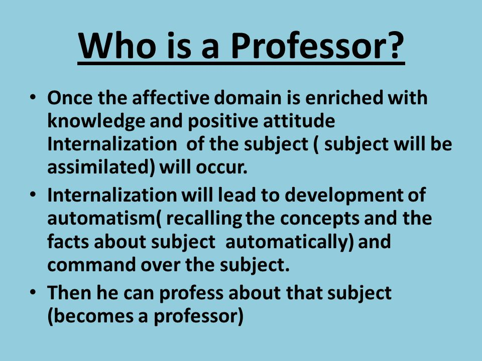 Who is a Professor
