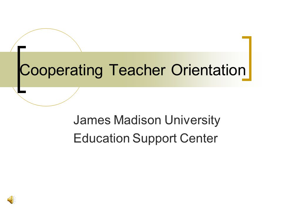 Cooperating Teacher Orientation