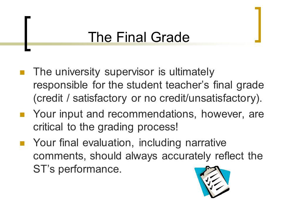 The Final Grade