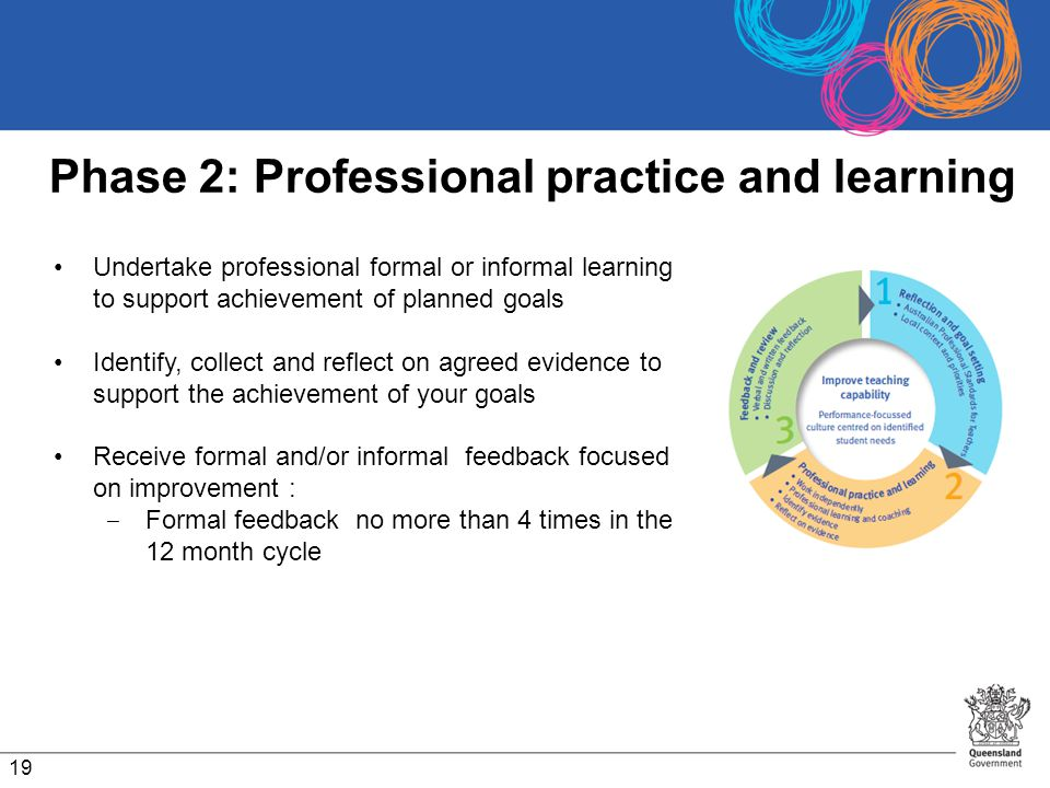 Phase 2: Professional practice and learning