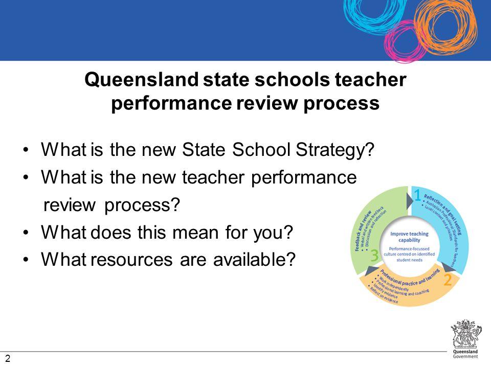 Queensland state schools teacher performance review process