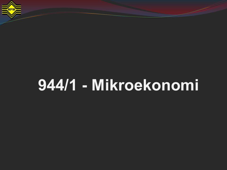 944/1 - Mikroekonomi