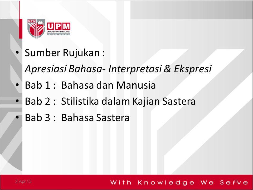 Apresiasi Bahasa- Interpretasi & Ekspresi Bab 1 : Bahasa dan Manusia
