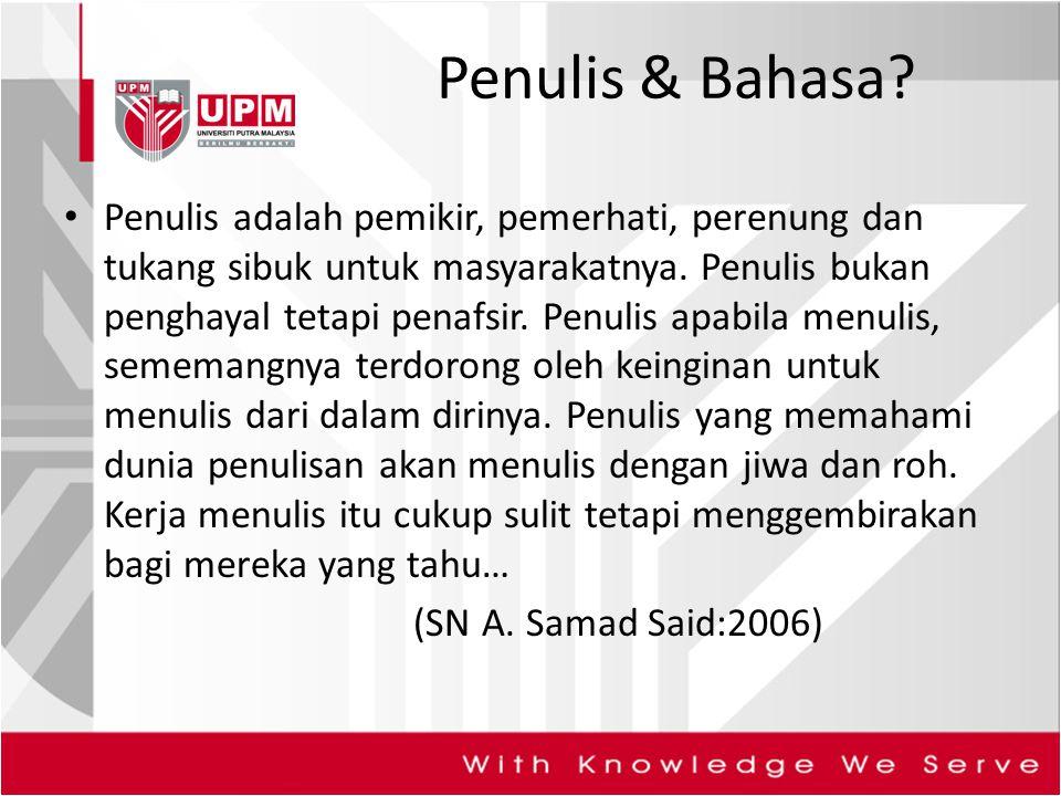 Penulis & Bahasa