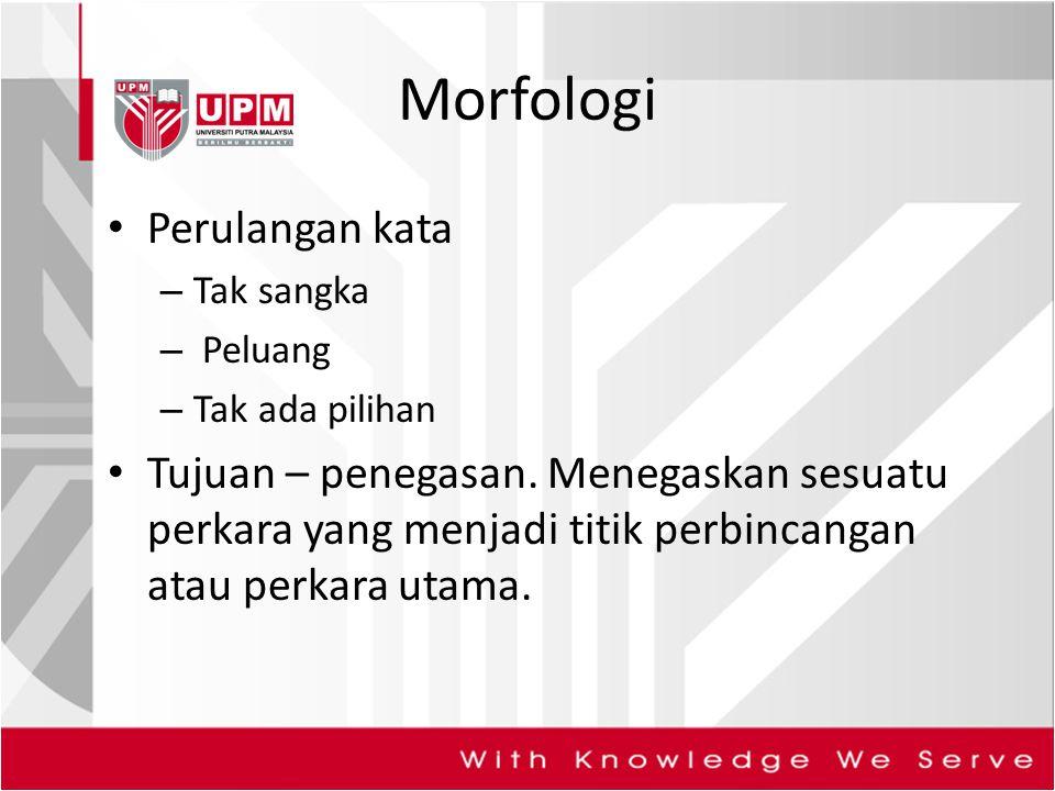 Morfologi Perulangan kata