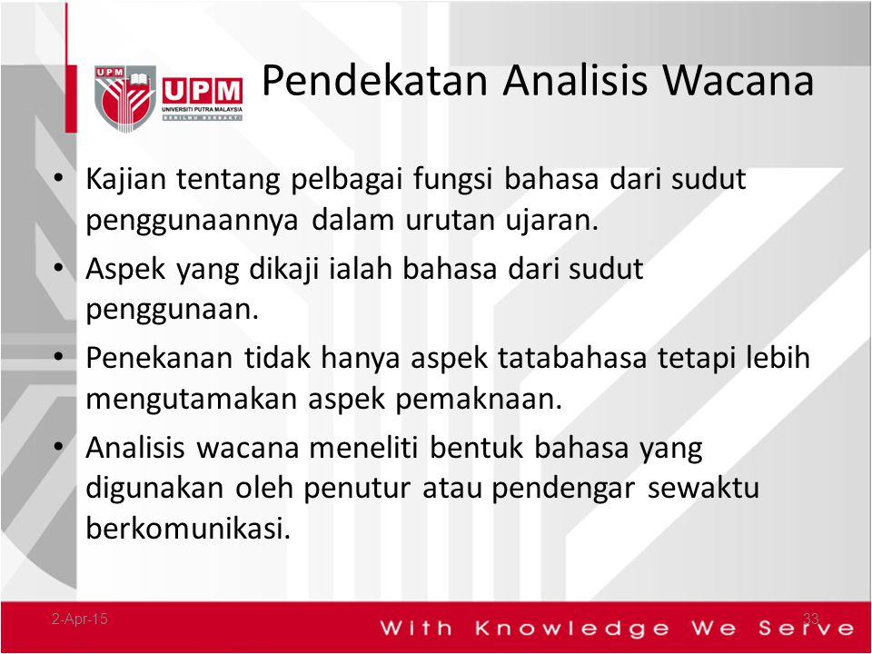 Pendekatan Analisis Wacana