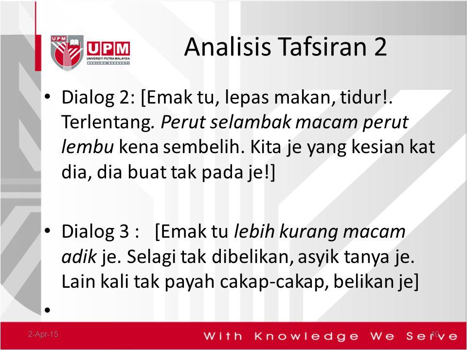 Analisis Tafsiran 2