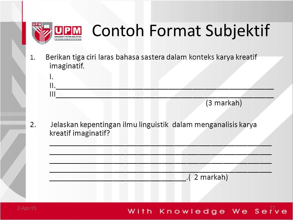 Contoh Format Subjektif